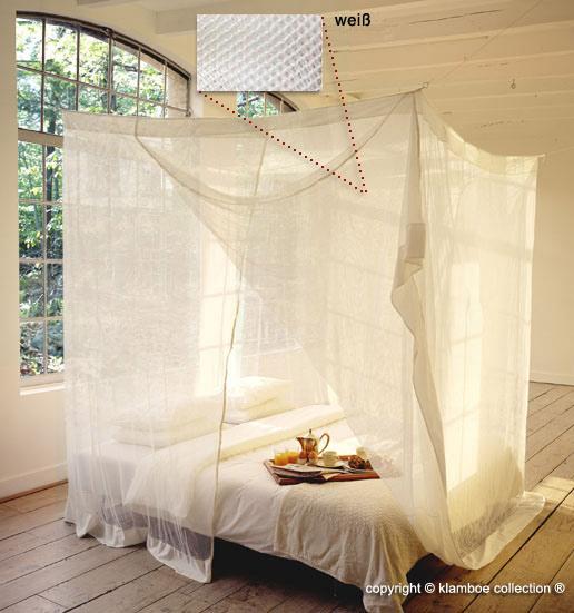 rechteckige moskitonetze bieten maximalen platz unter dem bett. Black Bedroom Furniture Sets. Home Design Ideas