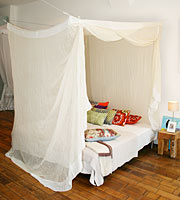 Square Mosquito Net Bamboo